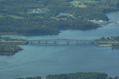 Aerial photo of General Sullivan Bridge